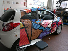 Decorazione Veicoli - Wrapping Totale Ford KA Britto